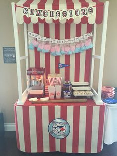 DIY #concession stand for vintage #baseball birthday party #bluejays