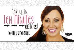 Monthly Challenge- Makeup in Ten Minutes or less! makeupgeek.com