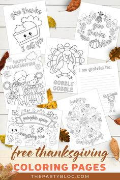 7 Free Thanksgiving Coloring Pages
