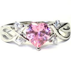 Pink Heart Shaped Rings