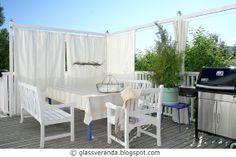 Glassveranda: Gjør-det-selv/DIY: Hvordan enkelt og rimelig lage gardiner til terrassen