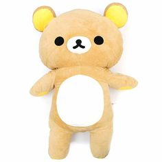 "This plush is the size of a small child!!! The reason why it's so big? Because we can!  \(@ ̄∇ ̄@)/  Rilakkuma's furry dimensions are 25.5""x41""x11.2"" 