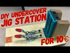 How to build a pocket hole jig station like Kreg / with Wolfcraft undercover jig under Pocket Hole Jig, Kreg Jig, Woodworking Jigs, Undercover, Tricks, Drill, Diy Projects, Traditional, Building