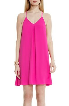 Vince Camuto Vince Camuto Pleat Front A-Line Tank Dress available at #Nordstrom