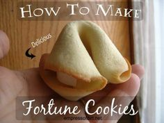 How To Make Fortune Cookies (and they taste great)