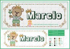 Para começar bem o mês um ursinho da realeza    Aqui os gráficos que usei