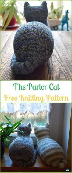 Amigurumi The Parlor Cat Softies Toy Free Knitting Pattern - Knit Cat Toy Softies Patterns