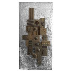Large Brutalist Wall Sculpture | From a unique collection of antique and modern wall-mounted sculptures at https://www.1stdibs.com/furniture/wall-decorations/wall-mounted-sculptures/
