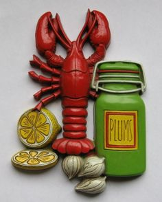 #JoesCrabShack     Cute Retro Lobster Kitchen Plaque by CosmoValley on Etsy, $10.00