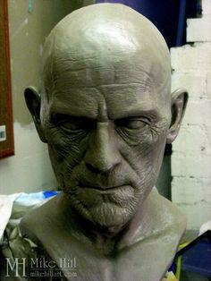 Finished sculpt of Karloff as Ardeth Bey.