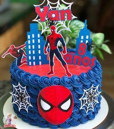 Spiderman Cake Ideas for Little Super Heroes - Novelty Birthday Cakes Spiderman Birthday Cake, Superman Birthday Party, Spiderman Theme, 4th Birthday Cakes, Novelty Birthday Cakes, Superhero Cake, Spiderman Balloon, Cake Shots, Avenger Cake