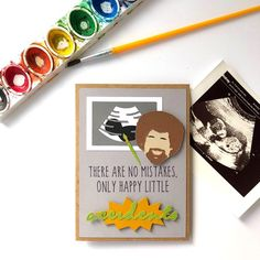 A fellow maker approached me about making a funny pregnancy announcement card for her husband and I thought, who better than Bob Ross to do… Pregnancy First, Pregnancy Early Pregnancy Chart, Pregnancy Bump, Funny Pregnancy, Pregnancy Quotes, Pregnancy Workout, Husband Pregnancy Reveal, Pregnancy Announcement To Parents, Baby Announcements, Rainbow Baby Announcement