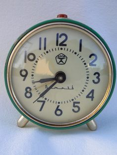Russian alarm clock!  COOL! (I don't think it is at this link any more, but just do an Etsy or Ebay search.)