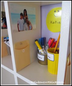 love the Family Photo in Child's Cubby :)