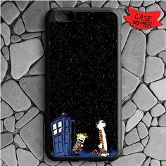 Night Stars Calvin And Hobbes iPhone 6 Plus iPhone 6S Plus Black Case
