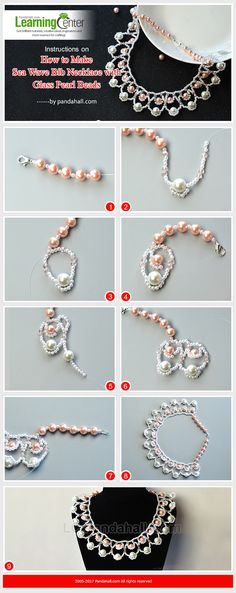 This piece of bib necklace is made of pearl beads, looks so elegant, right?
