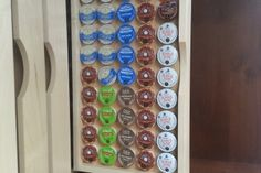 K Cup Organizer by JOE Roll Out Shelves, Clean Clean, Cabinet Ideas, Custom Cabinetry, Rolls, Shelf, Kitchen Appliances, Organization, Inspired