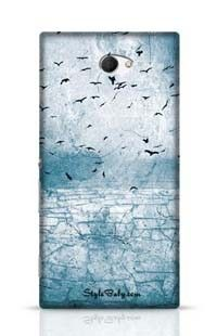 Ground Cracked Birds In The Sky Sony Xperia M2 Phone Case