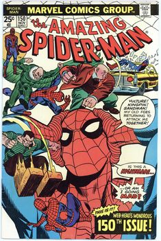 Lot Detail - The Amazing Spider-Man Marvel Comics (Featuring Gil Kane and John Romita Cover/Art; Archie Goodwin and Len Wein Stories) Marvel Comics, Comics Spiderman, Marvel Comic Books, Marvel Heroes, Comic Books Art, Comic Art, Spiderman Web, Marvel Dc, Amazing Spiderman