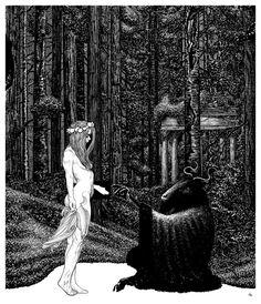 Nature, humanity, wisdom, art and fantasy are all intertwined. Dark Fantasy Art, Dark Art, Art Sinistre, Satanic Art, Illustration Art, Illustrations, Arte Obscura, Occult Art, Witch Art