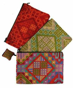 Items similar to Gaza Womens Cooperative Hand -Embroidered Purses on Etsy Modern Embroidery, Embroidery Patterns, Cross Stitch Designs, Cross Stitch Patterns, Cross Stitching, Cross Stitch Embroidery, Leather Bag Pattern, Palestinian Embroidery, Pillow Inspiration