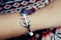 ANCHOR Freedom Connector Bracelet Charm by TheArtMission on Etsy