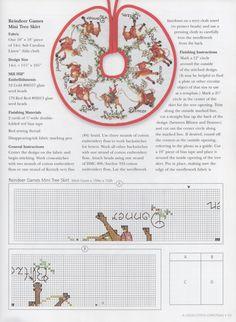 Cross-stitch Reindeer Games Mini Tree Skirt, part 2... color chart on part 4... Gallery.ru / Foto # 52-0009 - miroslava388