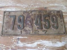 SALE 1927 New Hampshire License Plate 79-459 by circaonetsy