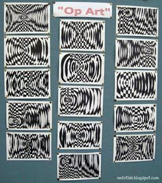 : op art lesson or grade?: op art lesson or grade? Imágenes efectivas que le proporcionamos so - Op Art Lessons, Art Lessons Elementary, Middle School Art Projects, Art School, Line Art Projects, Opt Art, Classe D'art, 7th Grade Art, Ecole Art