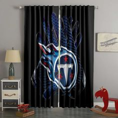3D Printed Tennessee Titans Style Custom Living Room Curtains – Westbedding