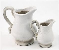 Kathy Kuo Home French Country Stoneware Pitcher- Large Modern French Country, French Country Kitchens, French Country Farmhouse, French Country Decorating, Farmhouse Style, Country Charm, French Style, Cottage Style Kitchens, Modern French Kitchen