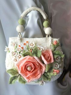 "Handmade felt bag.  Сумка ""Розовые грезы""."