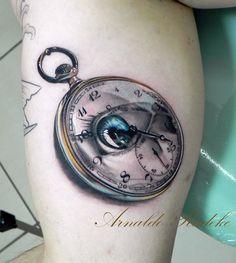 Pocket Watch with reflected eye by Arnaldo Radeke # Cheyenne Hawk