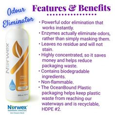 Norwex Cleaning, Cleaning Hacks, Norwex Party, Norwex Consultant, Beach Lunch, Odor Eliminator, Cleaning Solutions, Biodegradable Products, Norwex Products