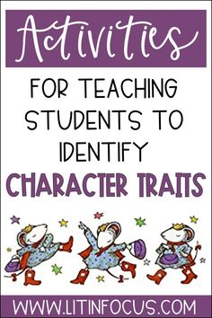 Character Traits List, Character Traits Activities, Character Education, Kindergarten Lessons, Primary Lessons, Kindergarten Crafts, Reading Strategies, Reading Resources, Reading Comprehension