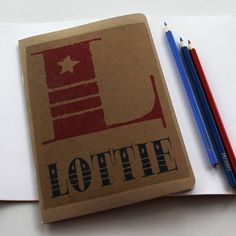 personalised name notebook by snapdragon   notonthehighstreet.com