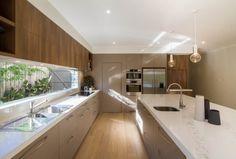 TKDC - Mont Albert North - www. Kitchen Room Design, Modern Kitchen Design, Kitchen Layout, Home Decor Kitchen, Interior Design Kitchen, Home Kitchens, Küchen Design, House Design, Cuisines Design
