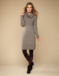Amelia Mini Cable Cowl Neck Dress
