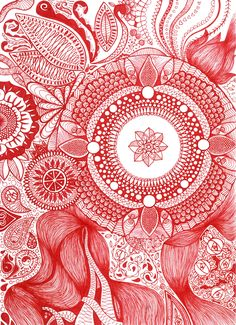 Excited to share the latest addition to my #etsy shop: Ruby Red - Hand-drawn Mandala Illustration high quality Print - unique, hand drawn, red, vibration, wall decor, art print http://etsy.me/2DaA8dd #art #drawing #red #mandala #love #walldecoration #wallart #geometric