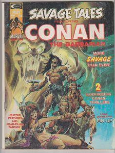 Savage Tales (featuring Conan the Barbarian); Vol 1, 4. FN Bronze Age Comic Book.  May 1974.  Curtis Magazines. (Marvel Comics) #conan #savagetales #nealadams #comicsforsale