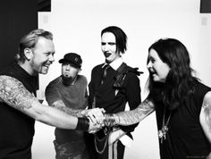 James hetfield (Metallica) , Fred Durst (Limp Bizkit), Marilyn Manson and Ozzy Ousborne