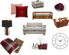 Autumn home decor ideas making the most of reds and wood and cosyness