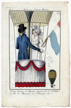 Journal des Dames et des Modes, honor of my post (!), I present you with one of my all time favorite fashion plates. For goodness sake, they are ballooning! Regency Dress, Regency Era, Jane Austen, 19th Century Fashion, 18th Century, Victorian Fashion, Vintage Fashion, Baroque, Mode Costume