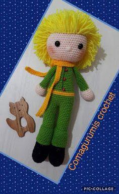 Leithygurumi: Amigurumi Little Prince Event First Part / Amigurumi . Crochet Amigurumi, Amigurumi Toys, Amigurumi Patterns, Crochet Dolls, Crochet Motifs, Free Crochet, Baby Knitting Patterns, Free Knitting, The Little Prince