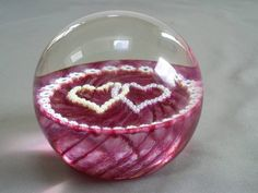 LOVELY SCOTTISH CAITHNESS GLASS LUCKENBOOTH MILLEFIORI & RUBY GLASS PAPERWEIGHT