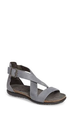 Free shipping and returns on Naot Rianna Crisscross Sandal (Women) at Nordstrom.com. Cushioned leather straps crisscross over the front of a high-backed sandal fitted with a comfortable contoured footbed and set on a flexible textured sole.