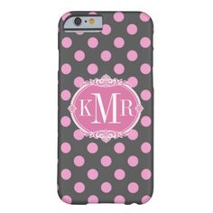 """Girly Pink Polka Dots Pattern - Pretty Vintage Frame Monogram - Cute and Unique Customizable iPhone 6 Cases for you. <font color=brown>Sample image :</font> <br><img src=""""http://casehunter.net/_sample/girly_pink_polka_dots_vintage_frame_monogram_iphone6_case-256366833021410601.jpg"""" alt=""""Girly Pink Polka Dots - Vintage Frame Monogram Customizable and Personalized iPhone 6 Case"""" />"""