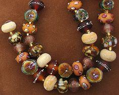 DSG Lampwork Beads Organic Handmade Glass November Harvest | eBay