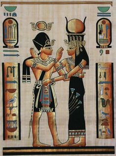 Goddess Hathor and Ramses II.