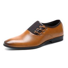 Men Stylish Cap Toe Color Blocking Business Formal Dress Shoes